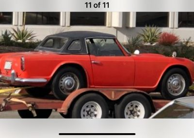 Triumph TR 4. Red. For restauration
